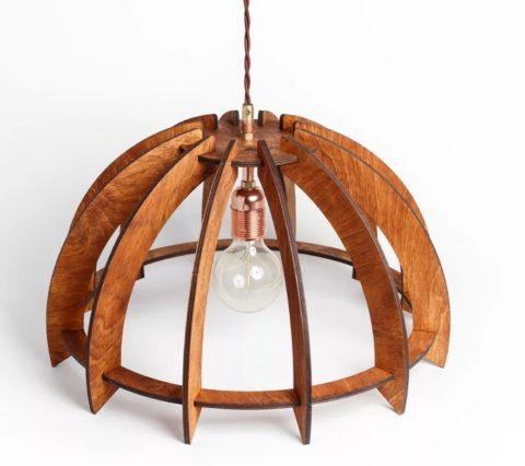 Деревянный абажур: не только экологично, но и стильно