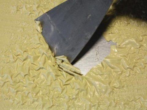 Действие смывки на лакокрасочное покрытие