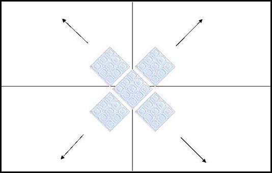 Диагональный монтаж плитки