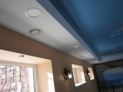 Диффузоры на потолочной поверхности