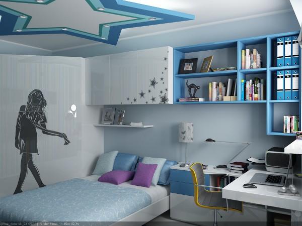 Дизайн гипсокартонного потолка в невысоком помещении