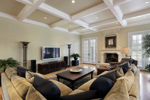 Дизайн гипсового кессонного потолка