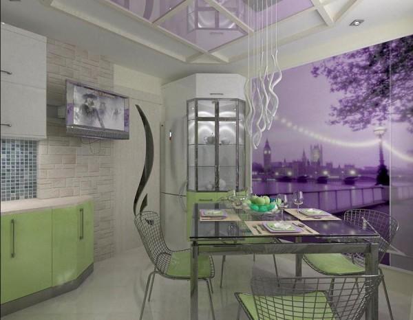 Дизайн кухонного потолка