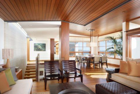 Дизайн потолка с планкеном