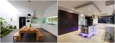 Дизайн потолка зависит от стиля помещения и его параметров