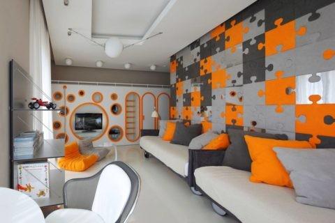 Дизайн потолков из гипсокартона в детской позволяет реализовать самые смелые идеи