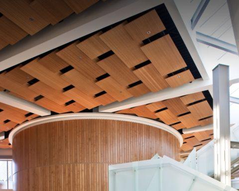 Дизайнерский потолок из бамбука