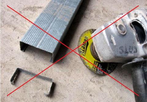 Для резки оцинковки используйте только ножницы