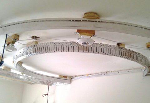 Дугообразные профили для потолков сложной формы
