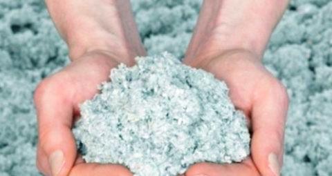 Эковата — продукт переработки бумаги