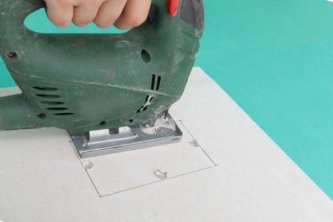 Электролобзик — идеальный инструмент для фигурной резки ГКЛ