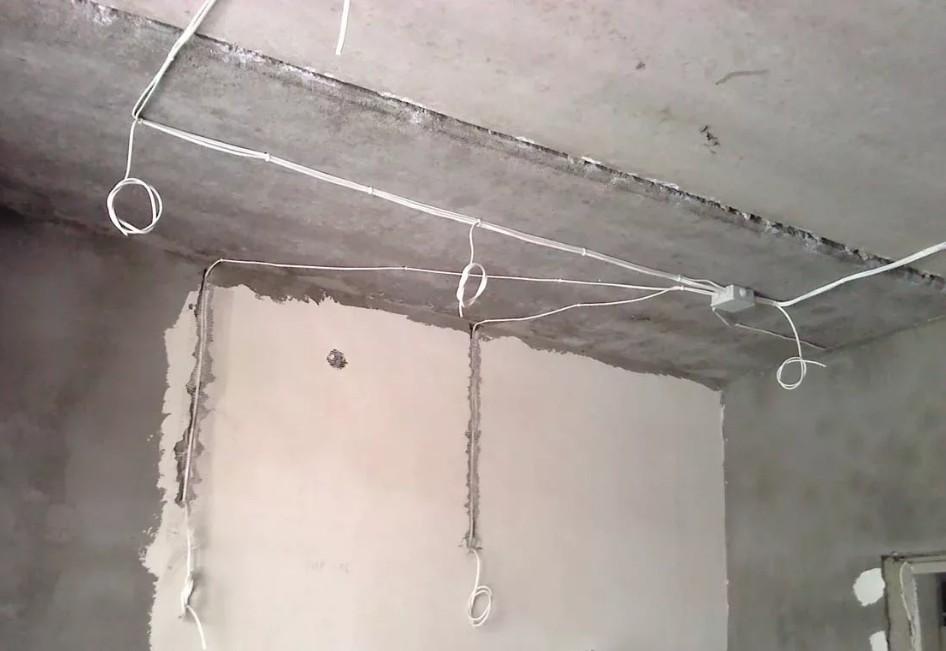 проводка для точечных светильников под гипсокартоном