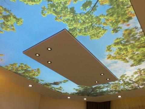 Этот прием может вообще заставить забыть о существовании потолка в комнате