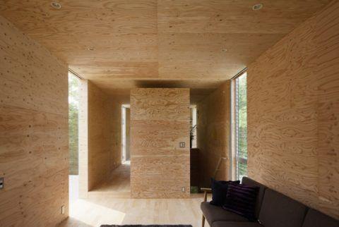 Фактура фанеры, в зависимости от древесины, может быть очень красивой - что даёт определённые возможности для дизайна