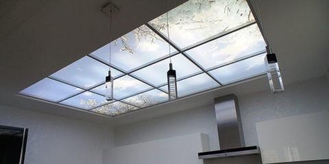 Фальш-окно на потолке Армстронг