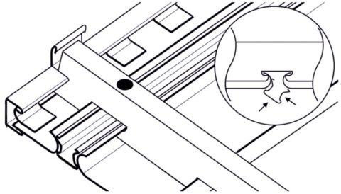 Фиксация панели сопровождается щелчком