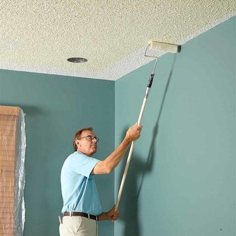 Финишные работы по отделке потолка