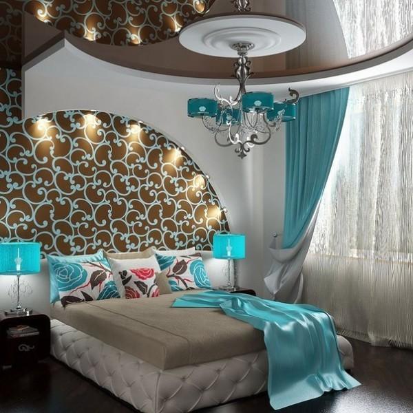 Гипсокартон и натяжное полотно в дизайне потолка