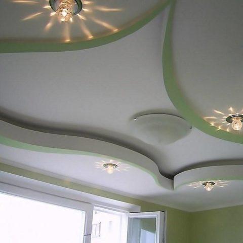 Гипсокартон позволяет изготавливать конструкции самых необычных форм