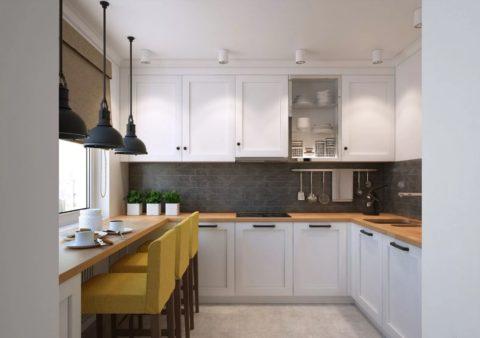 Гипсокартонный потолок в кухне