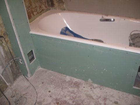 ГКЛВ в отделке ванной