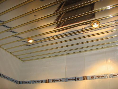 Глянцевый алюминиевый потолок