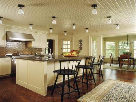 Готовые реечные потолки на кухне