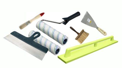 Инструмент для косметического ремонта и покраски потолка