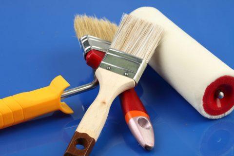 Инструмент должен быть очищен от подсыхающей краски
