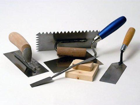 Инструменты для работы с фактурными штукатурками