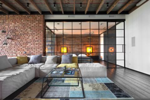 Интерьер, не нуждающийся в декорировании потолочными плинтусами