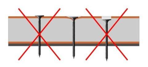 Качество покрытия во многом зависит от качества креплений