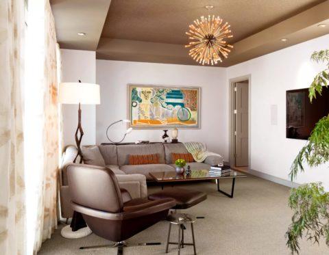 Как покрасить обои на потолке: благодаря фактуре, покрытие можно принять и за декоративную штукатурку