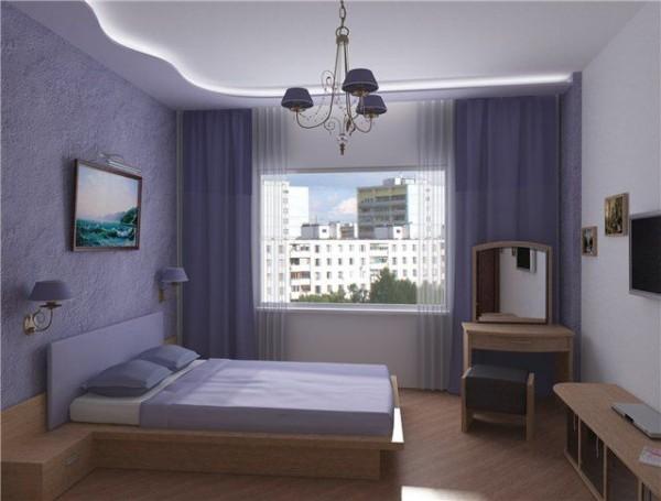 Гипсовый потолок с закарнизной подсветкой