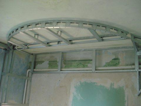 Каркас криволинейного потолка
