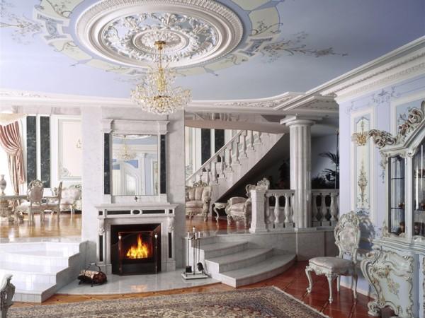Ручная лепнина в особняке королевы Виктории