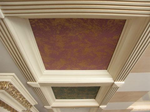 Картонный кессонный потолок