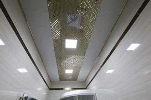 Кассетная конструкция со скрытой подвесной системой