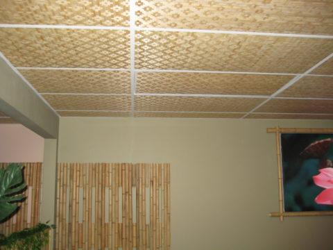 Кассетный бамбуковый потолок