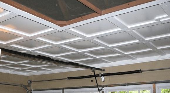Кассетный потолок из гипса