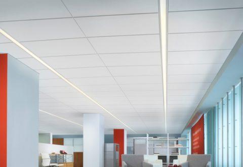 Кассетный потолок можно частично разобрать, чтобы получить доступ к проводам