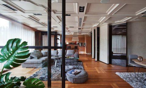 Кессоны в современном стиле: встроенное освещение, вентиляция и акустическая система