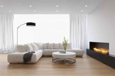 Классический матовый потолок может быть натяжным