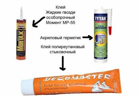 Клеи, применяемые при монтаже полиуретановой лепнины