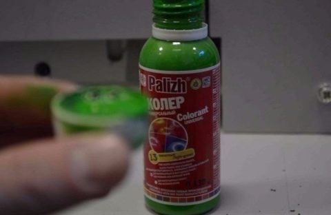 Колер для жидких обоев зеленого цвета