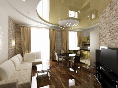 Комбинированные криволинейные потолки