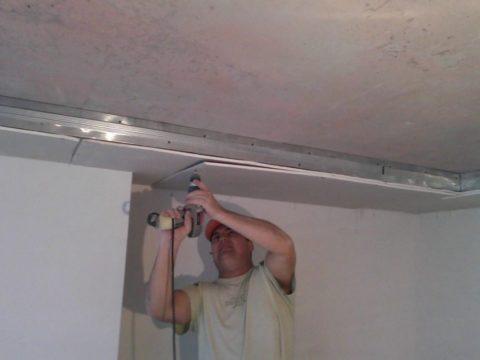 Короб под центральный натяжной потолок