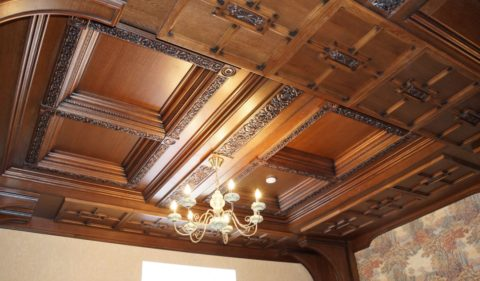 Красивейший деревянный кессон, который придаст аристократизма любому помещению