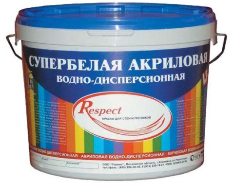 Краска для потолка акриловая супербелая имеет самый высокий показатель укрывистости