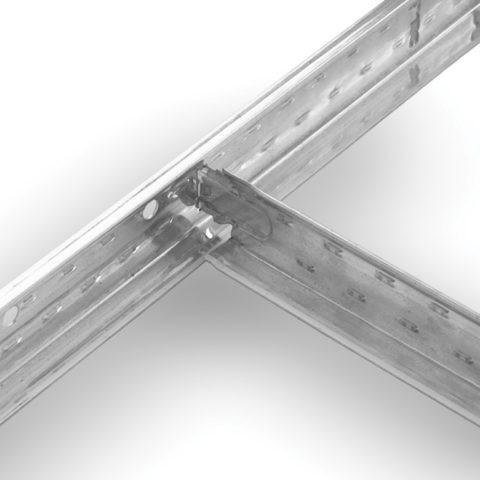 Крепёжные профили, которые удерживают потолочную плитку, выполняют и декоративную функцию